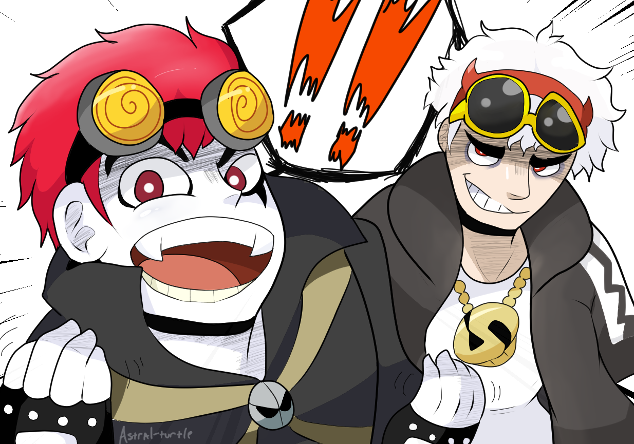 Jack and Guzma go trick or treating