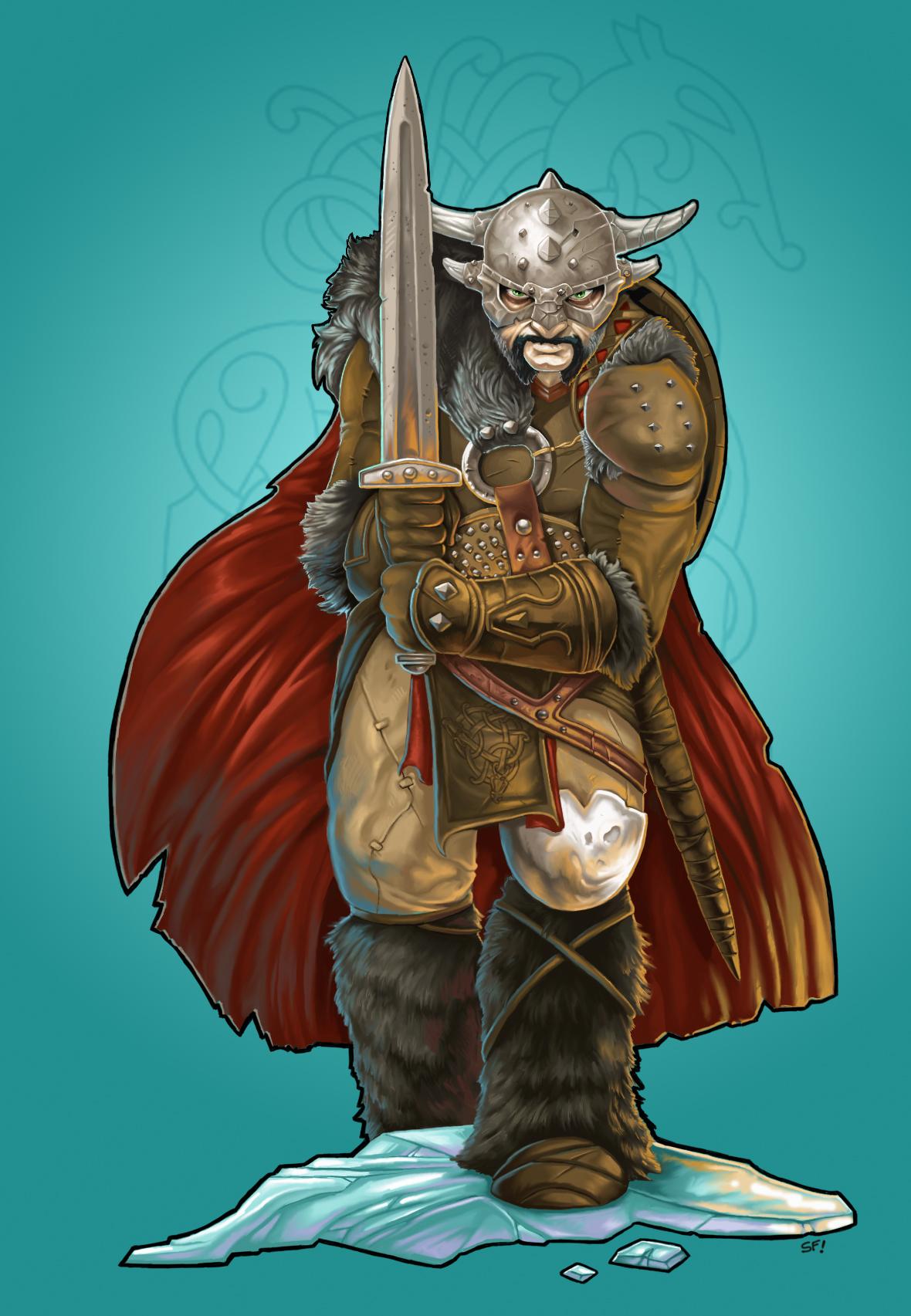 Ice Mountain Barbarian figure 1