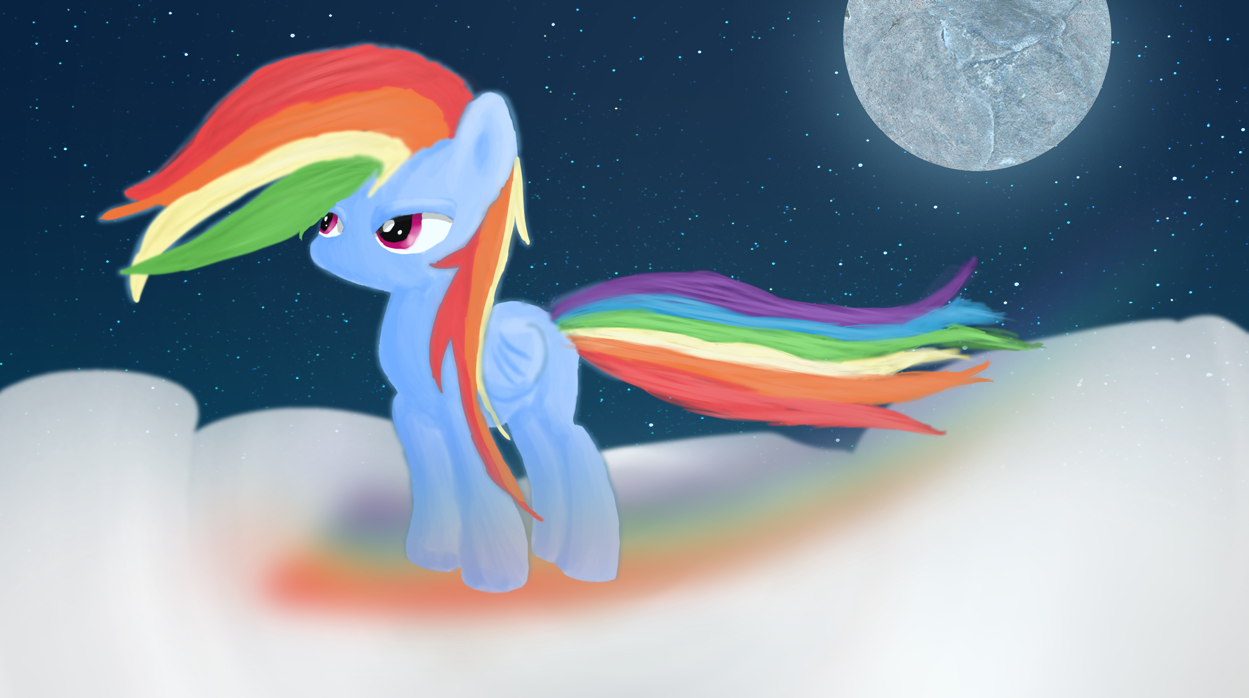 My first digital paining - Rainbow Dash