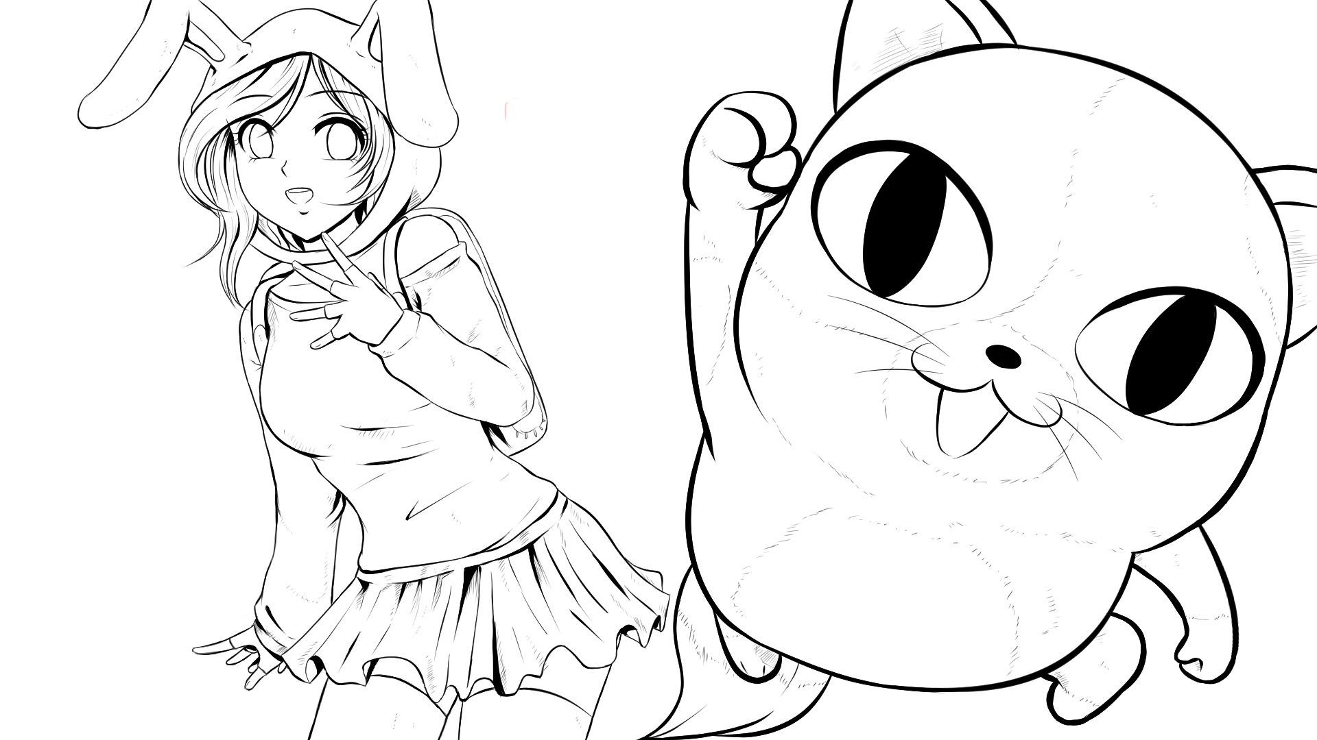 fionna and cake (anime/manga version)