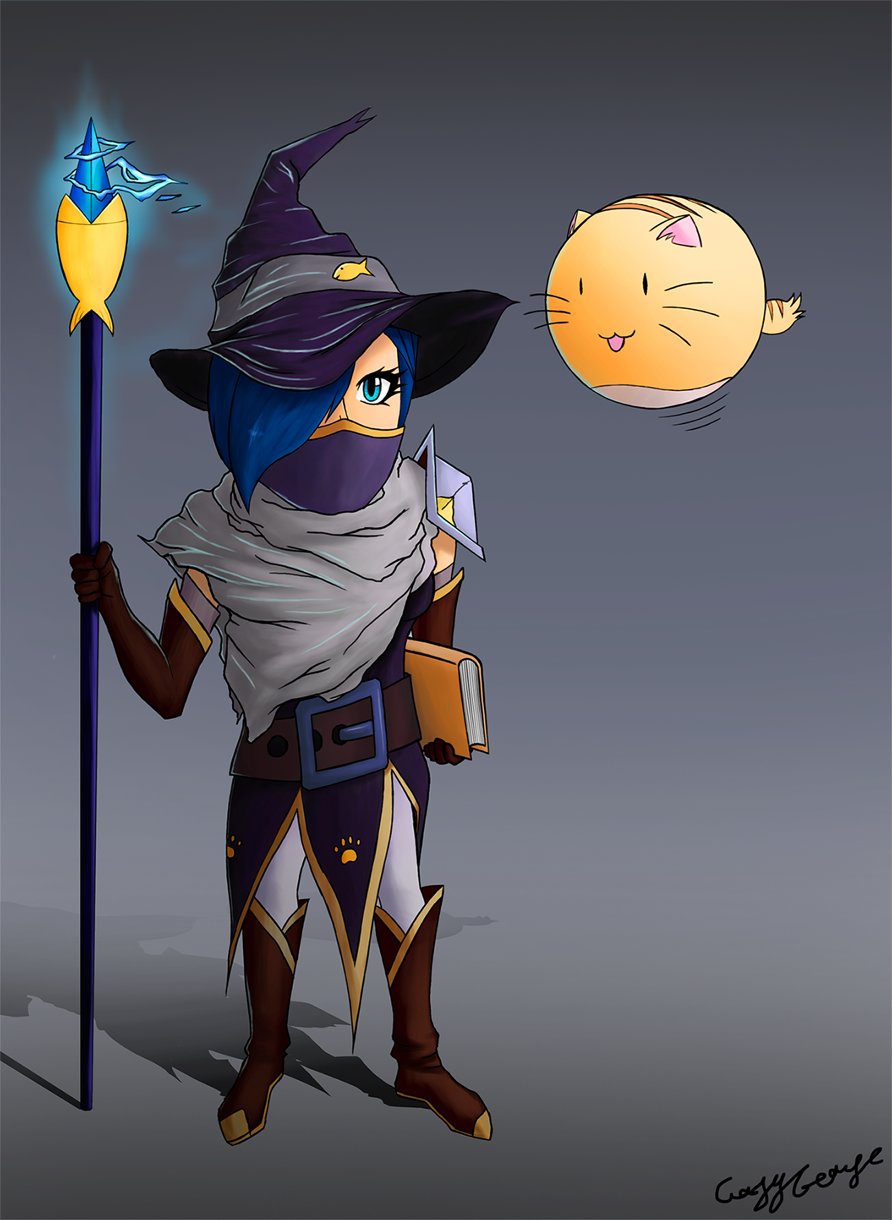 KittyMage and BubbleCat (Nonstop Knight challenge)