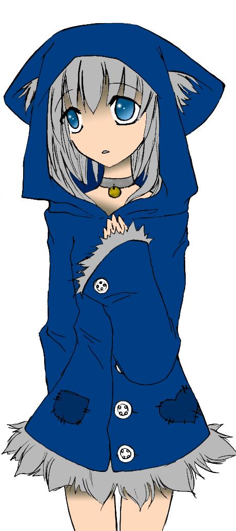 Neko in Blue Jacket