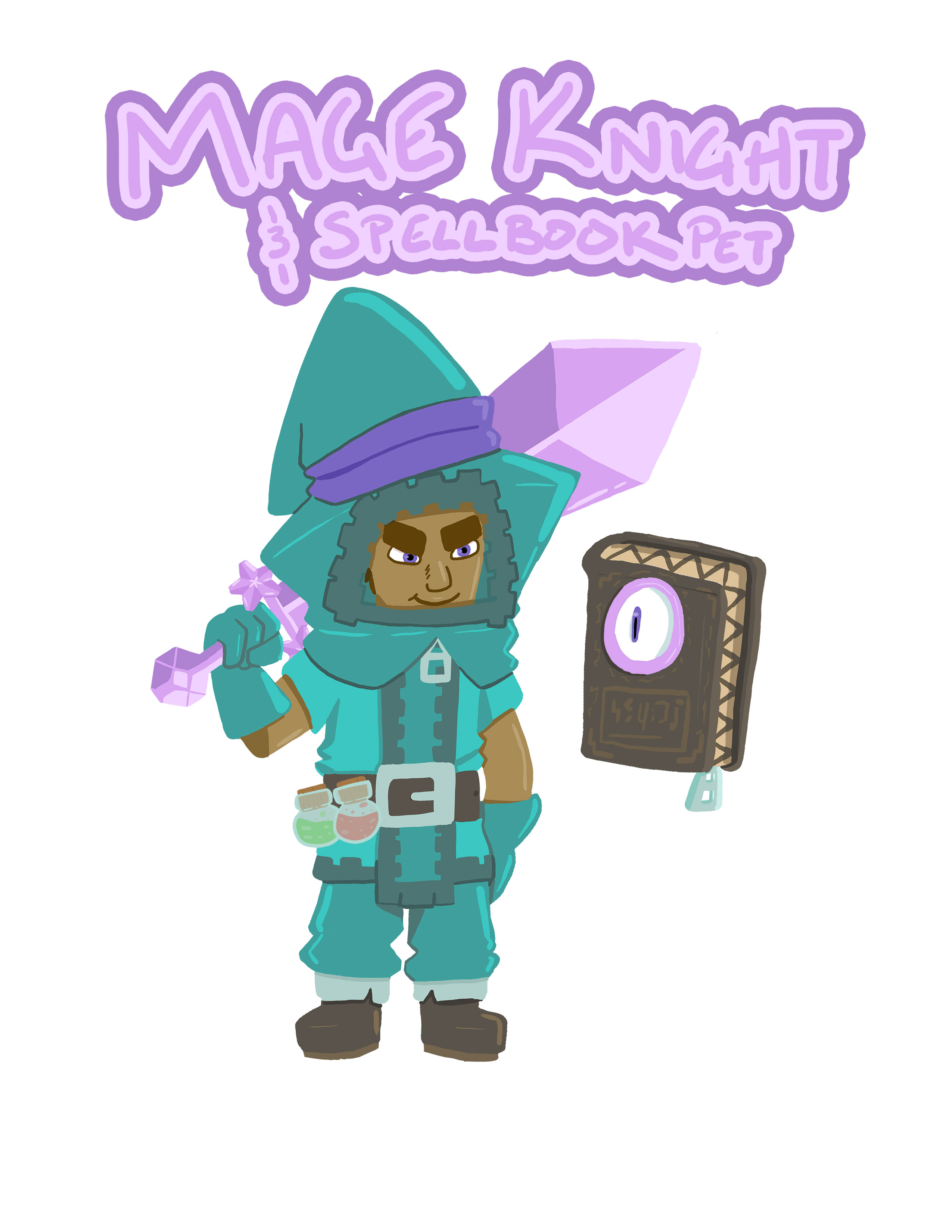 Nonstop Knight/COTM Submission: Mage Knight and Spellbook Pet