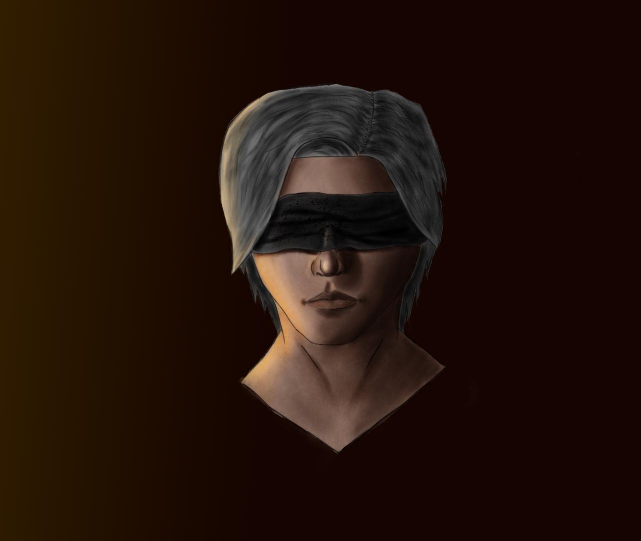 Blind boy