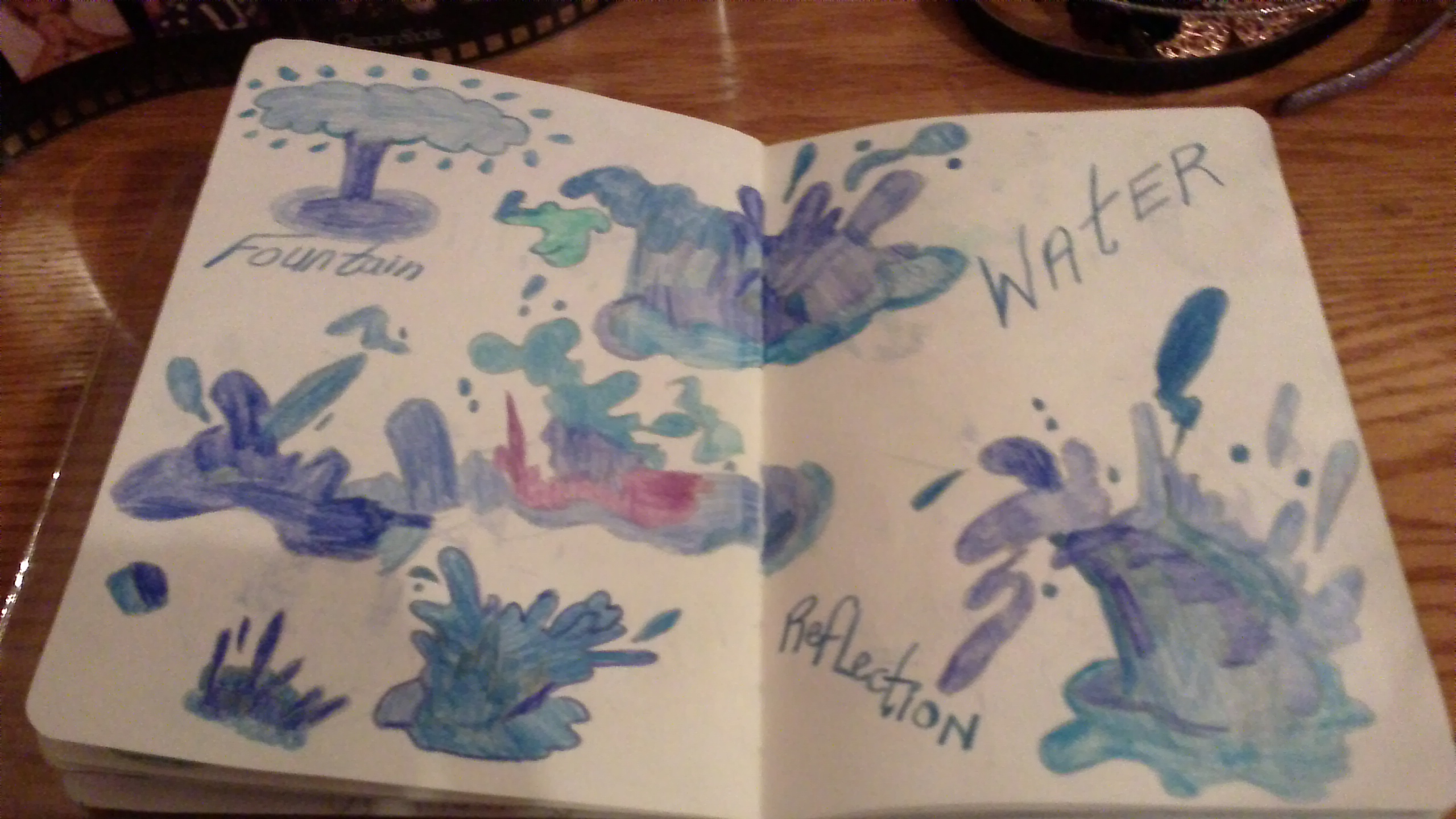 STOP MOTION DRAWN BY HAND, SPLASHING FUN WITH WATER
