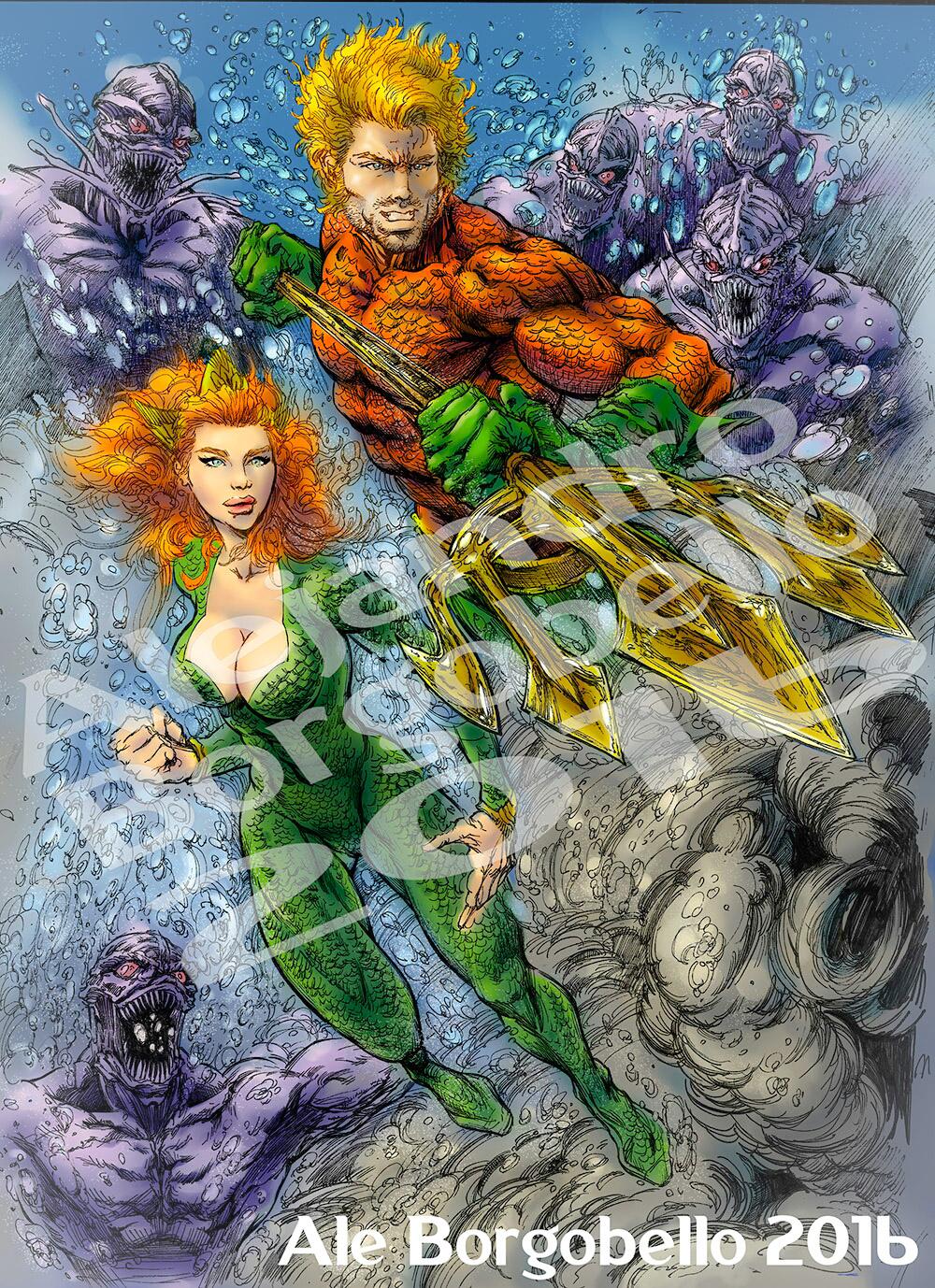 Aquaman & Mera - COMMISSION
