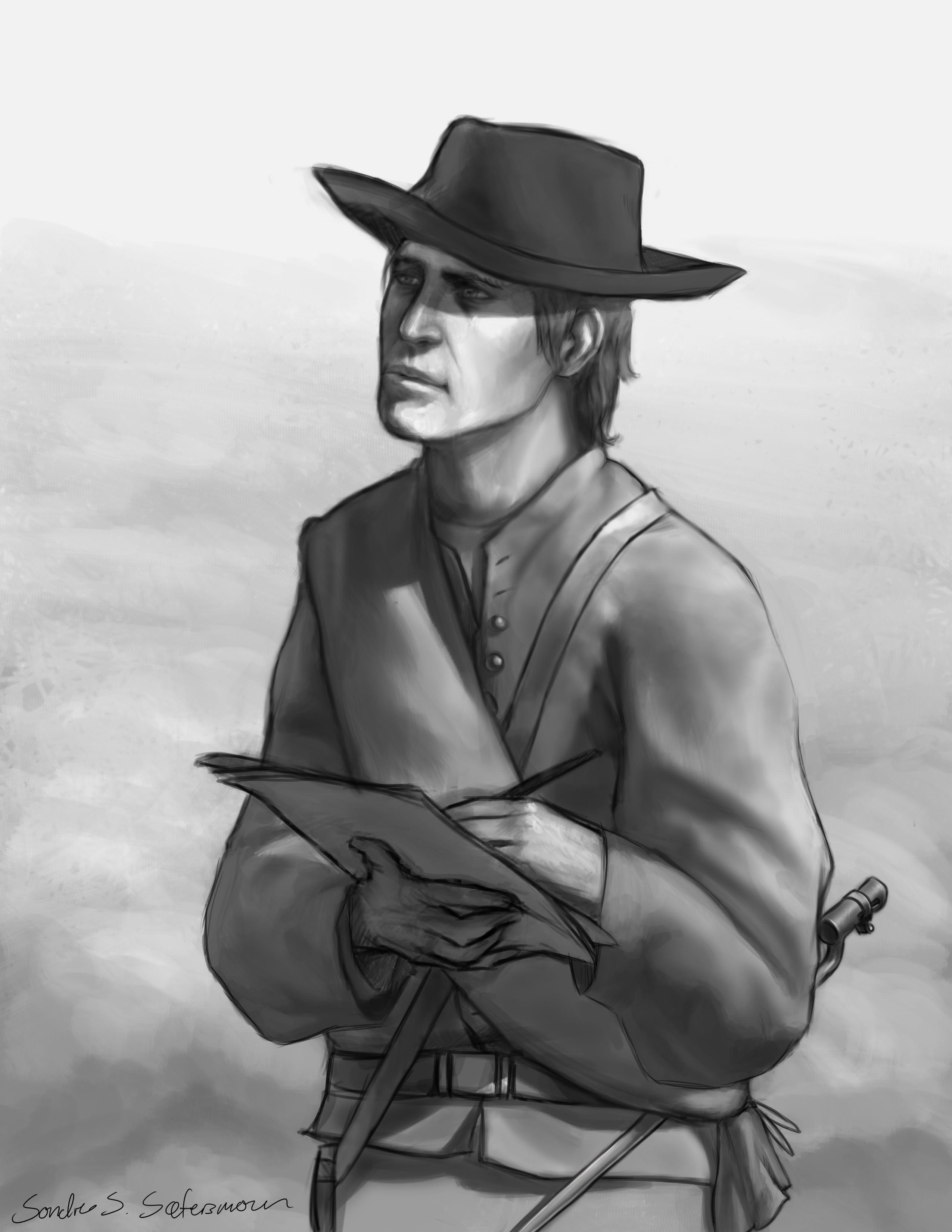 (Blacknwhite) Confederate frontline artist