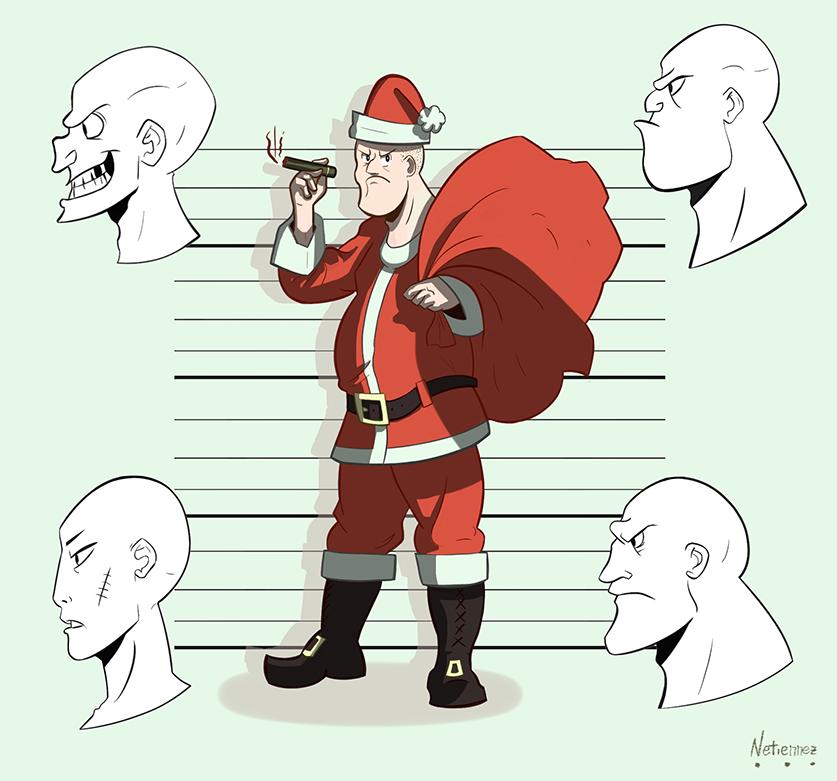 Bad Guys And Santa!