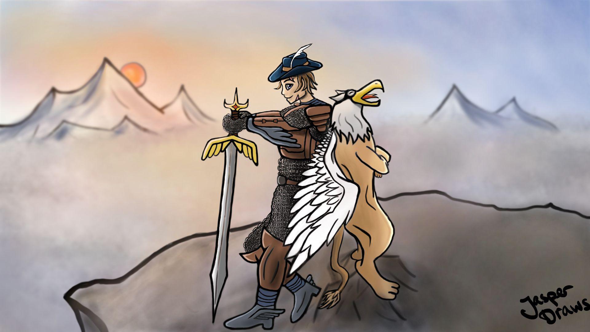 Gryphon and Swordsman - Hero & Pet C.O.T.M.