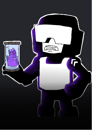 Tankman finds a super radioactive Purple Gem