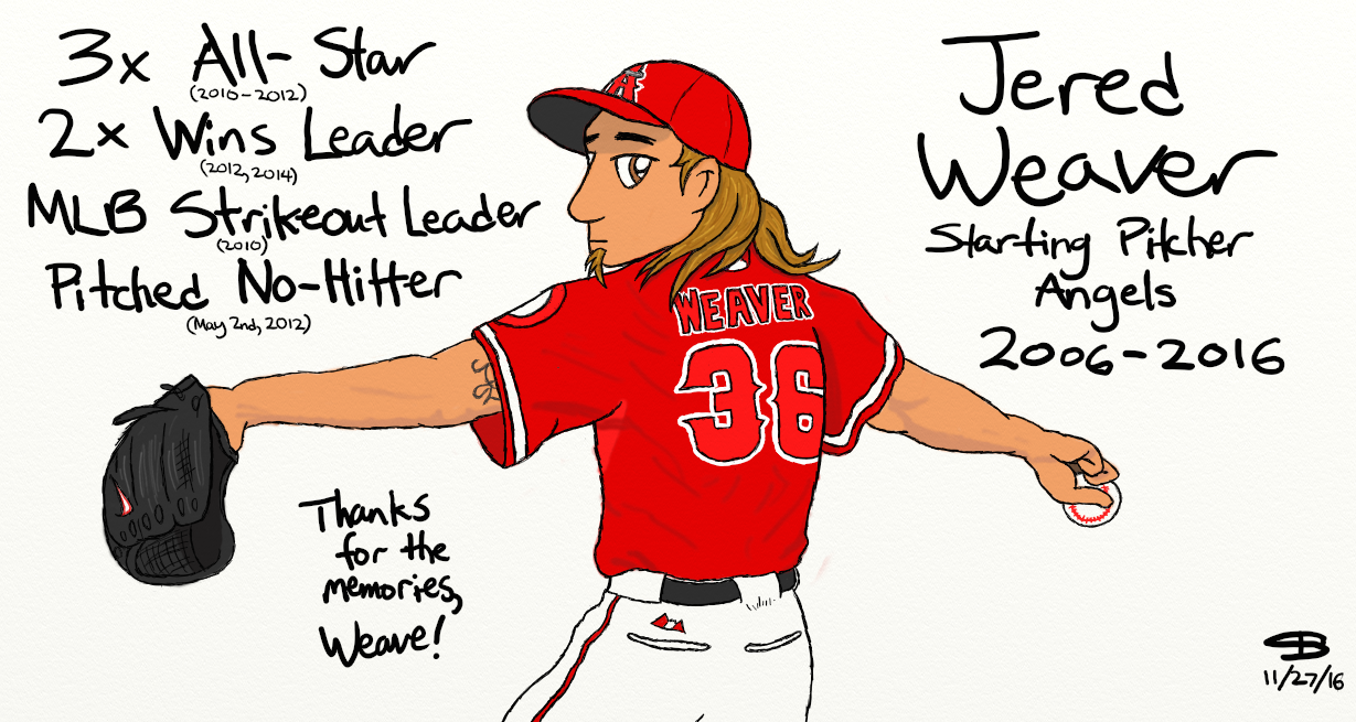 Jered Weaver tribute drawing