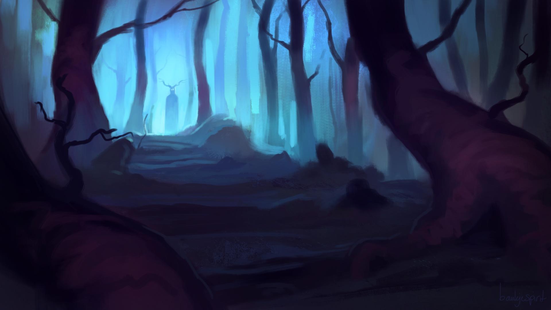 Haunted Forest - speedpaint