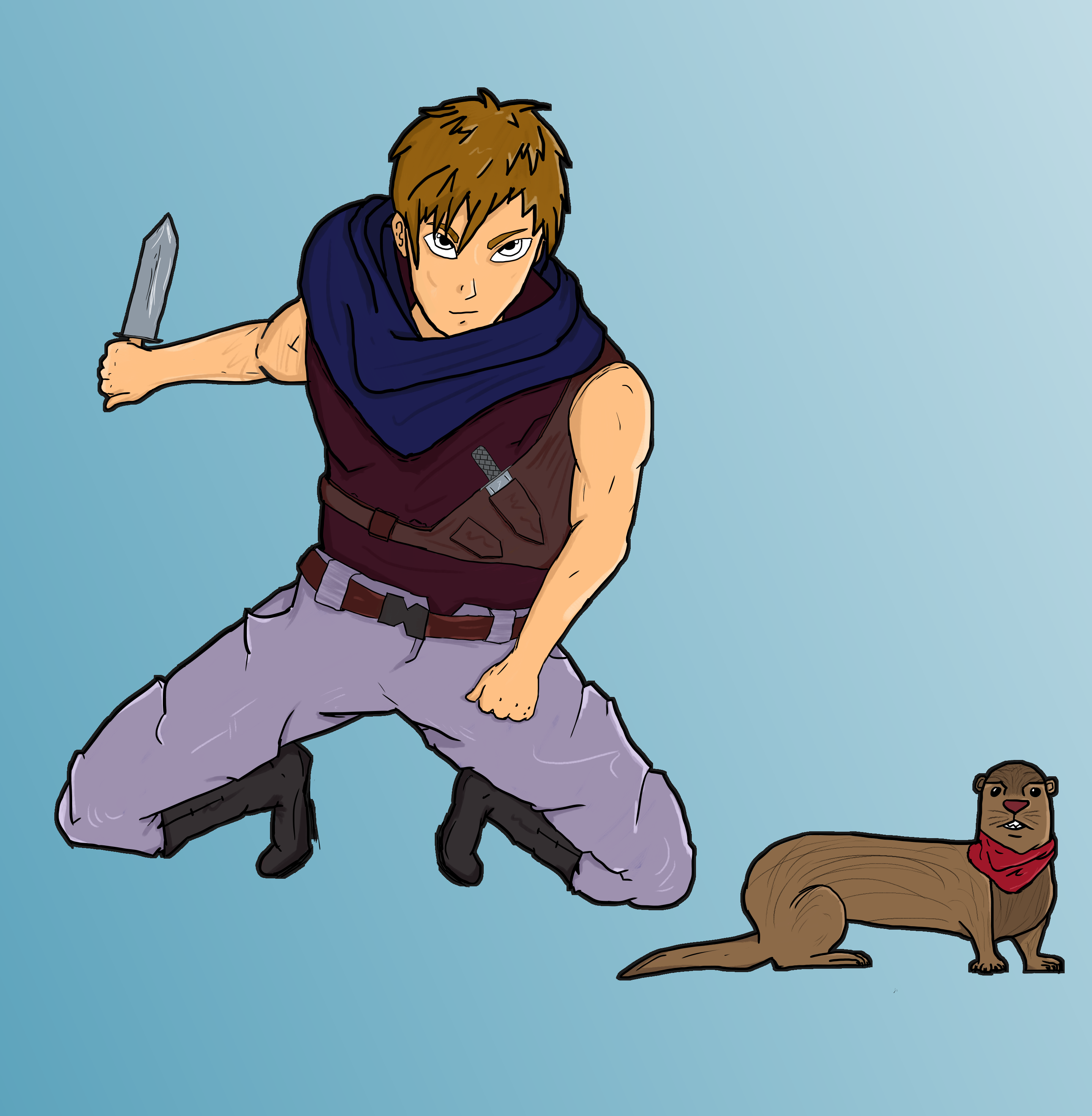 Hero & Pet: a thief and his otter