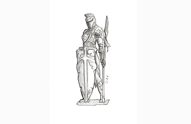 Lonesome Warrior (My 2016 Sketchbook Nr. 1)