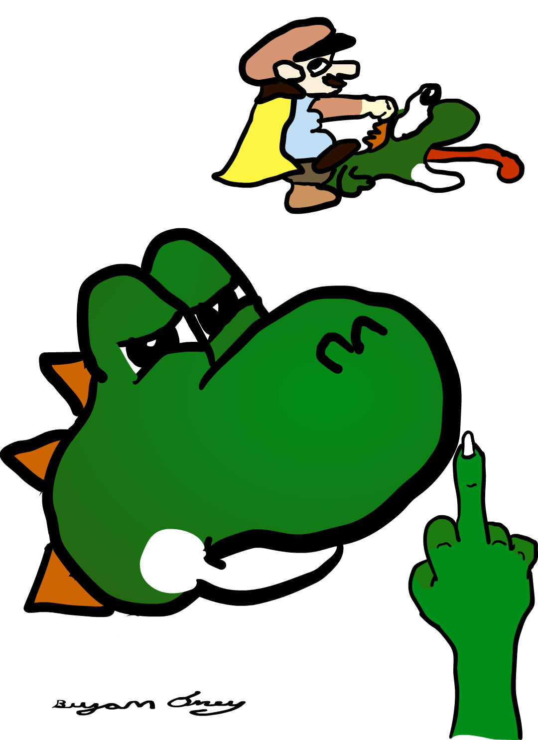 Yoshi is Tired of Your S***