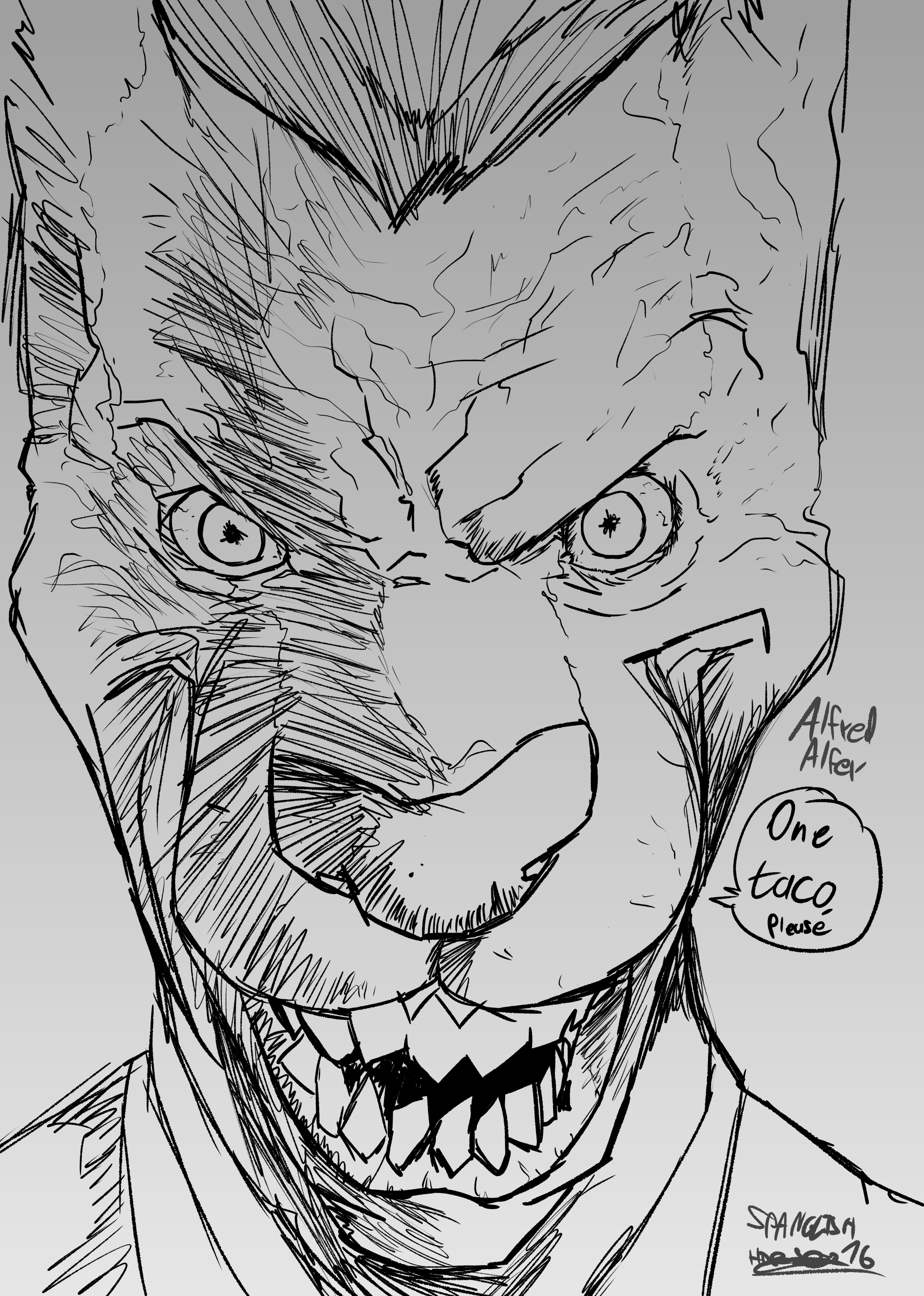 JOker endgame Inking try outs (alfred alfer version)