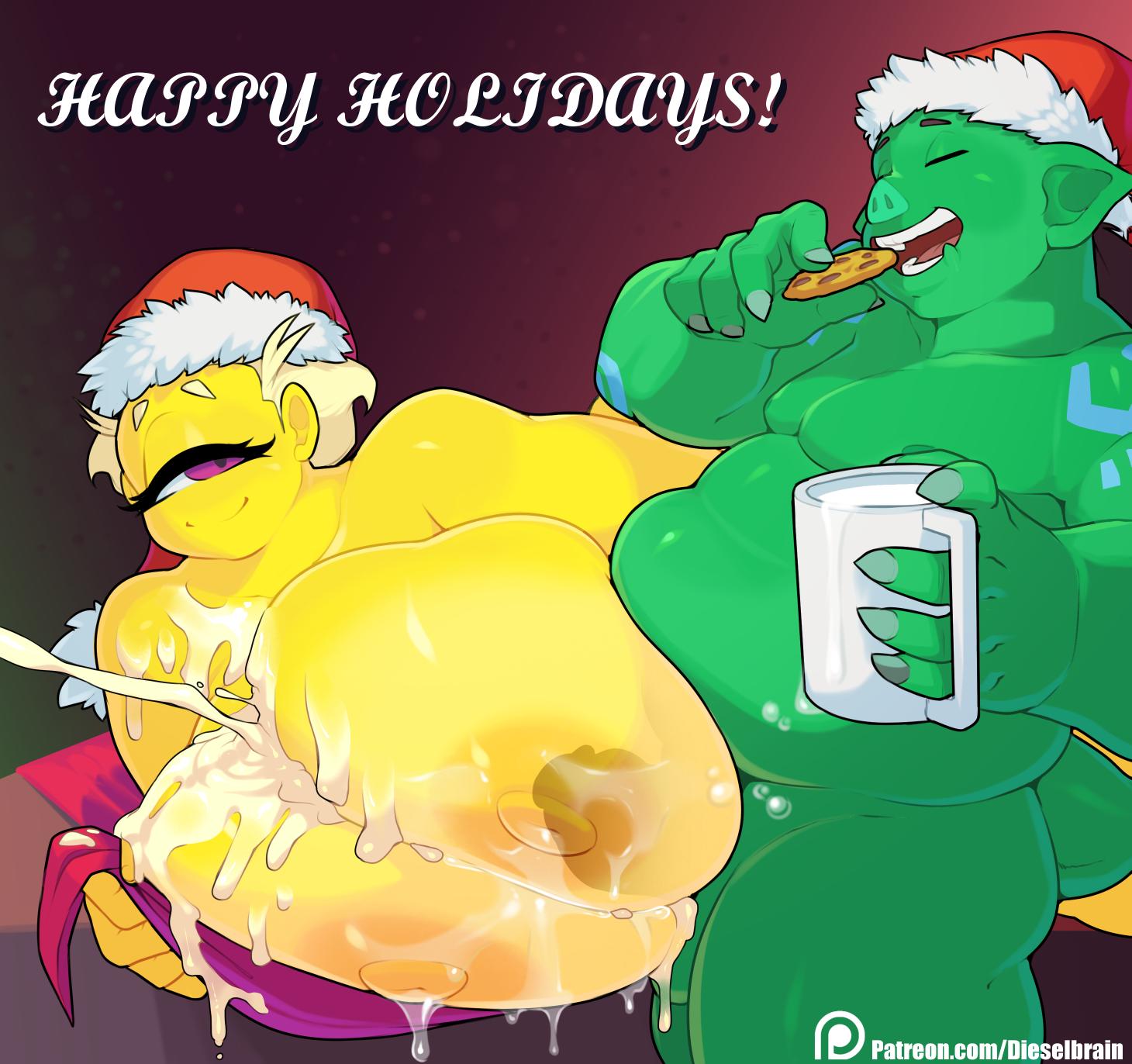 Cookies & Milk (& Boobs) Messy
