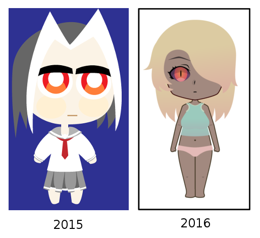 When you're constipated about hand-drawing weeb stuff so you use Inkscape - self progress, why tho
