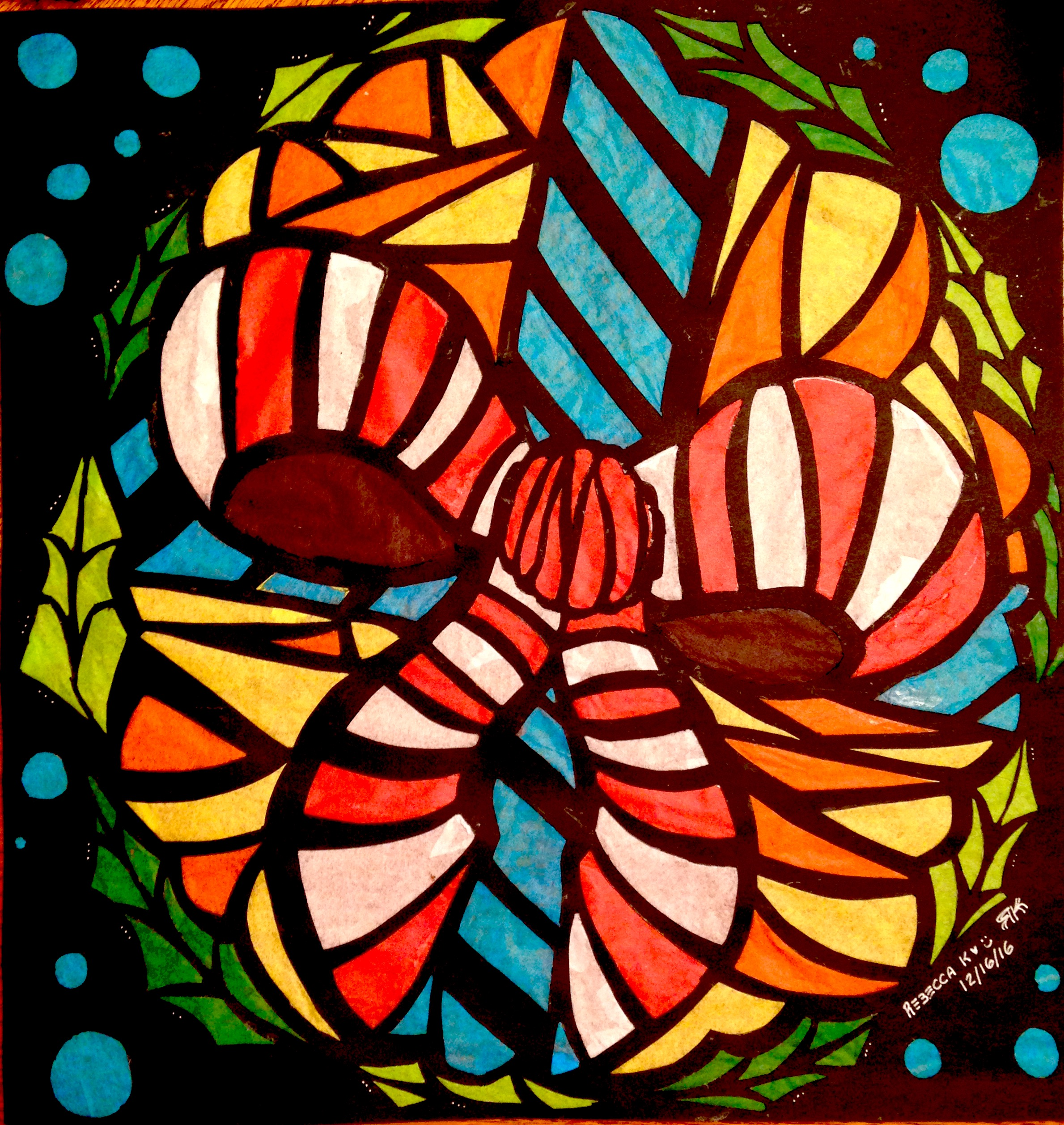 Tissue Paper Stain Glass