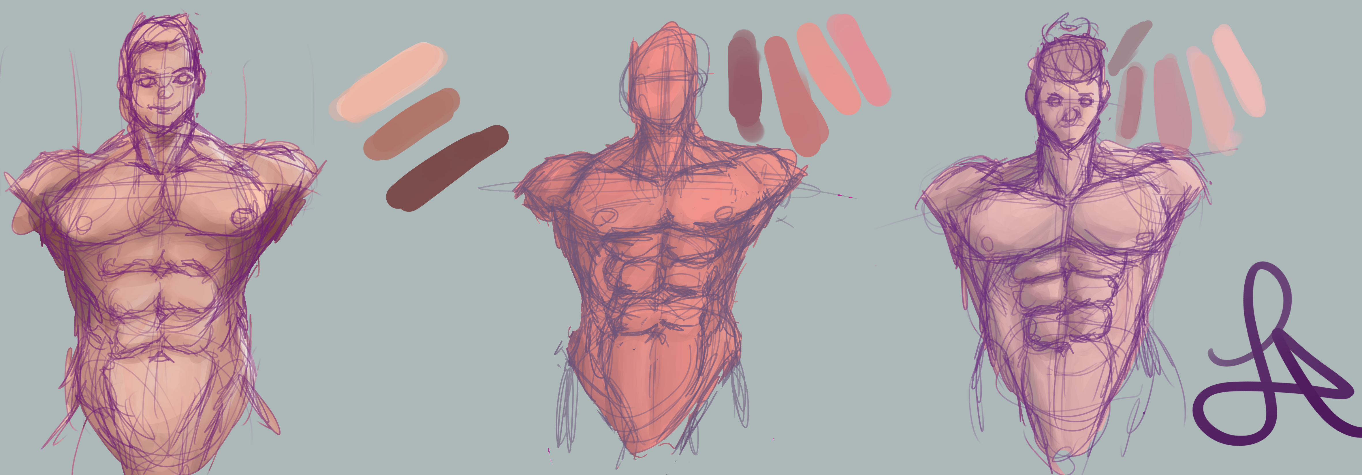 skintones and anotmy sketches