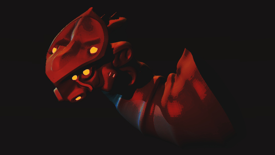 Red Mech Dragon