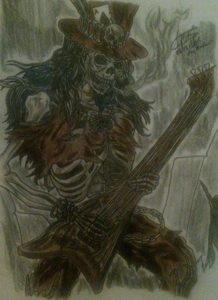 Skull Guitar Art