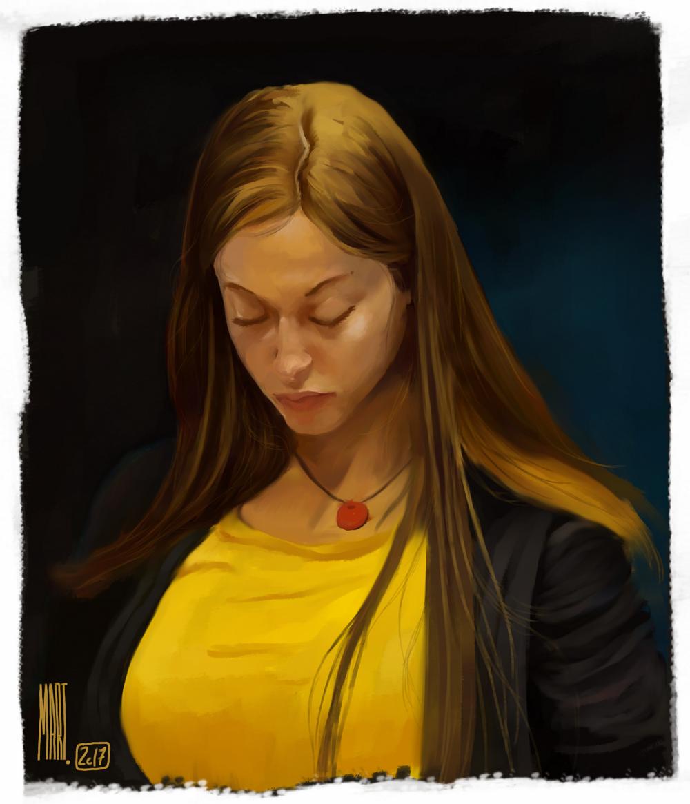Random girl from the Czech Republic train | Krita 3.1