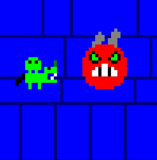 Mikha vs Demon Pixelart