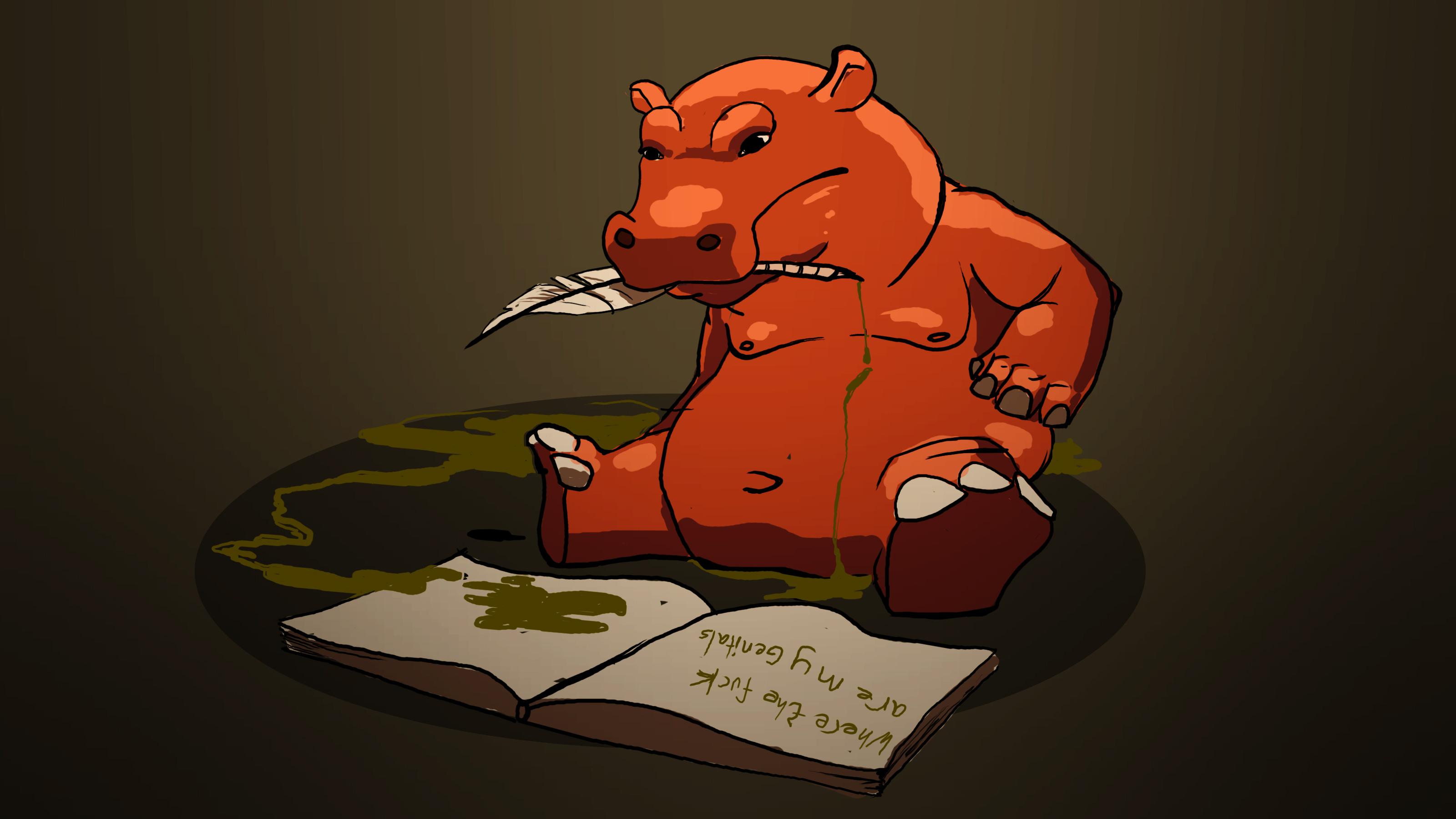 Hippo Has Pen