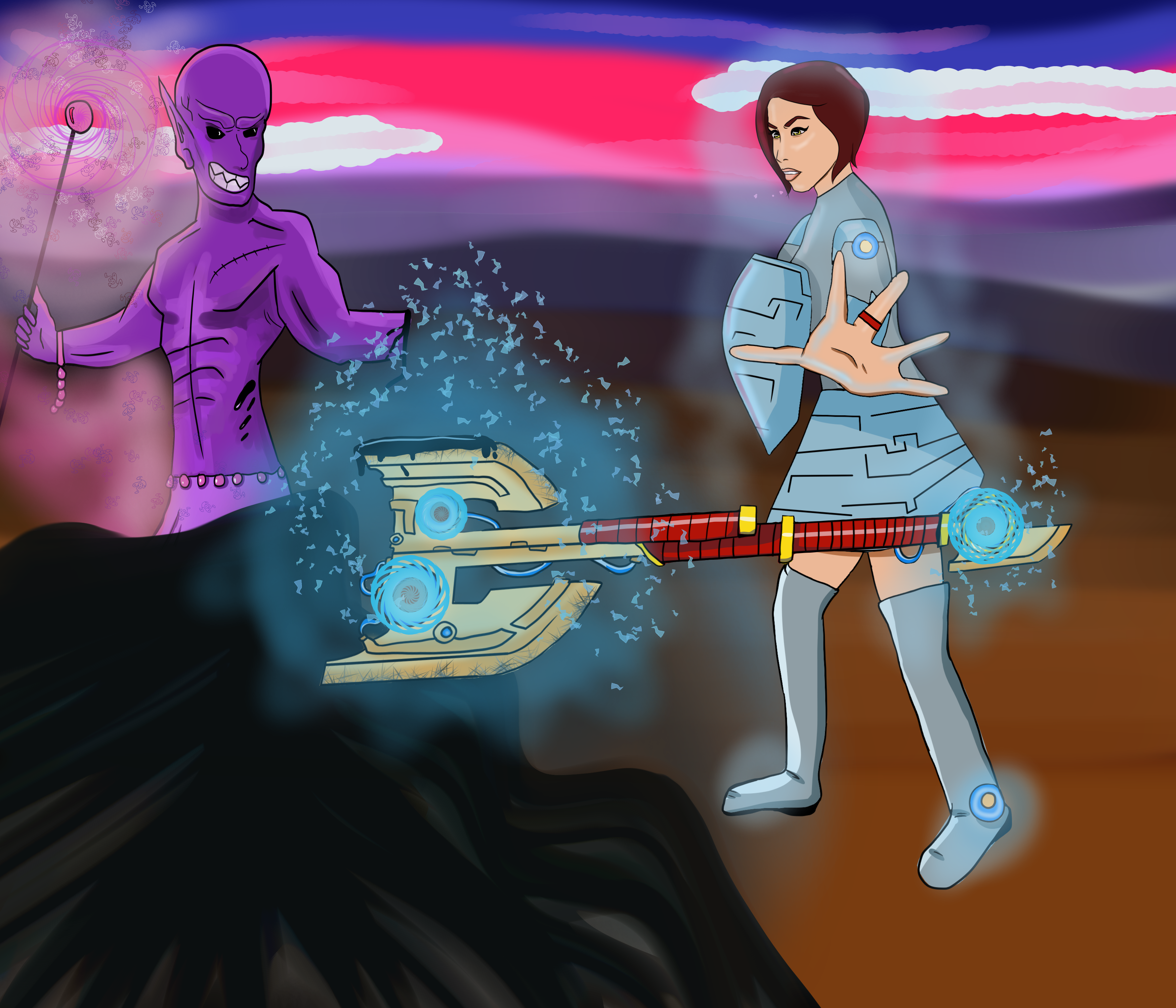 Epic Magic Sci Fi Axe Battle By Bloodbornchild On Newgrounds