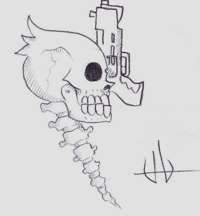 Spooky bad tattoo or whatever you want