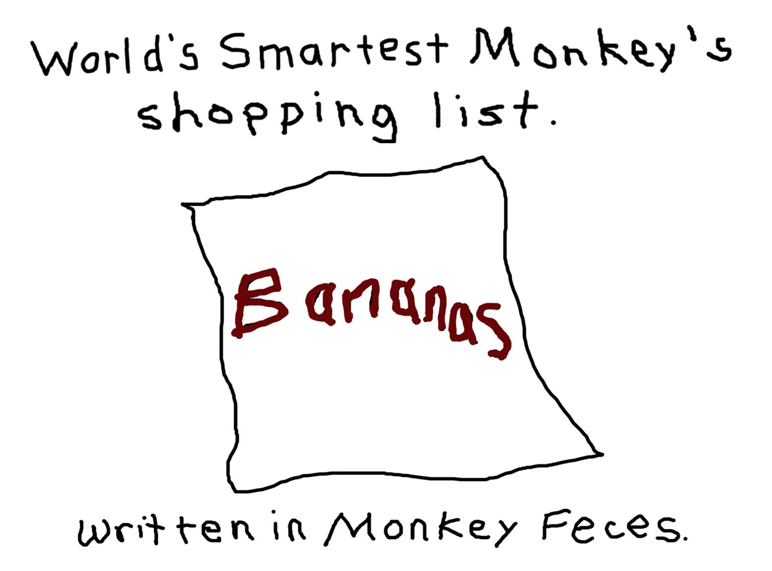 Monkey's Shopping List.