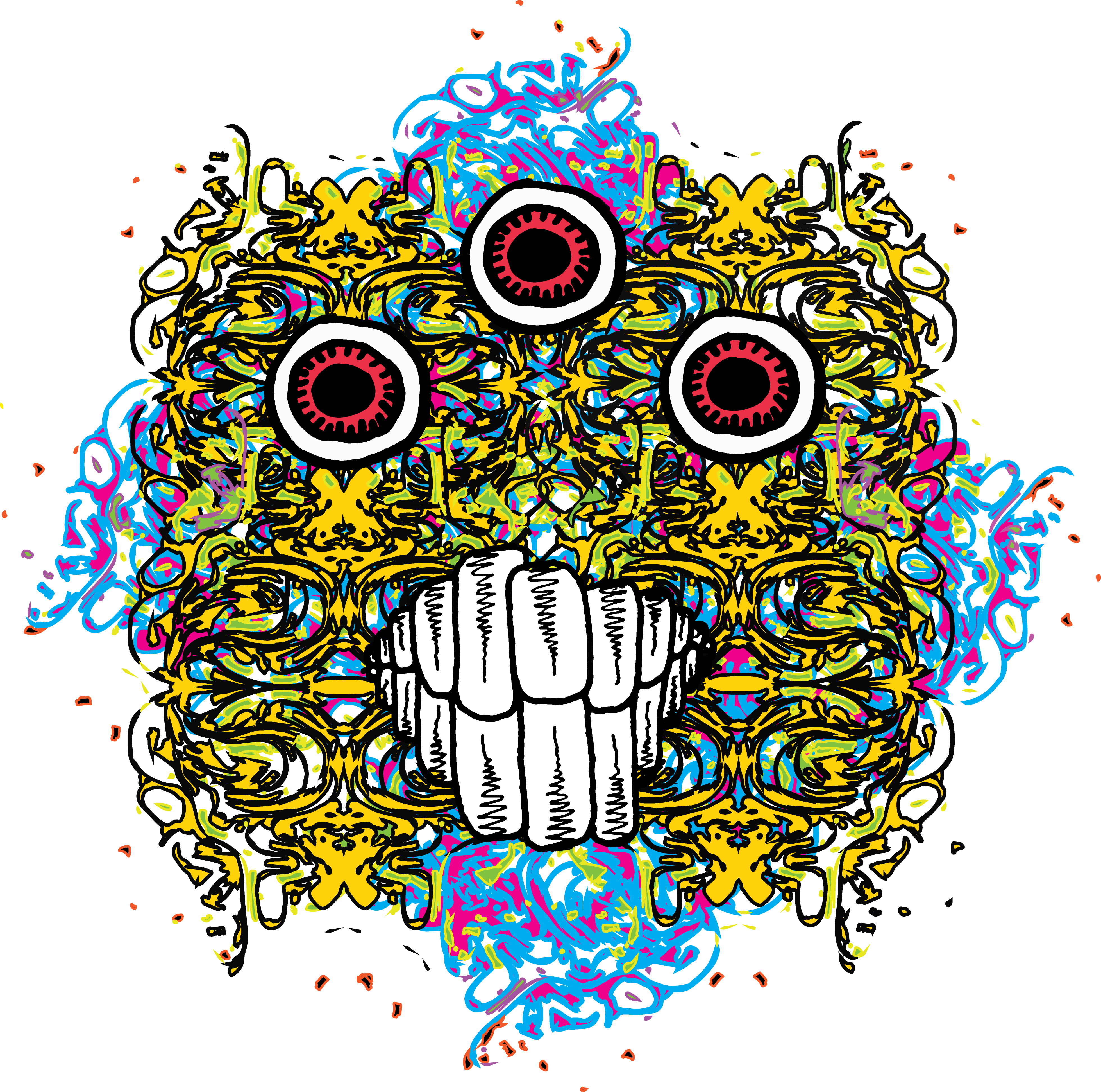Psychedelic Monster Head