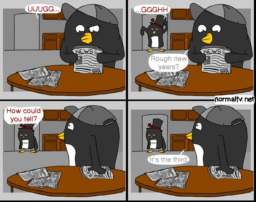 Penguins in Hats - Hangover