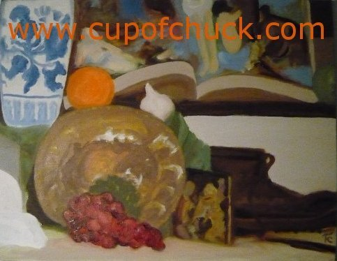 Grapes and Plate Still Life
