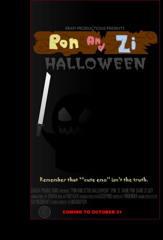 Pon and Zi Hallowen Poster