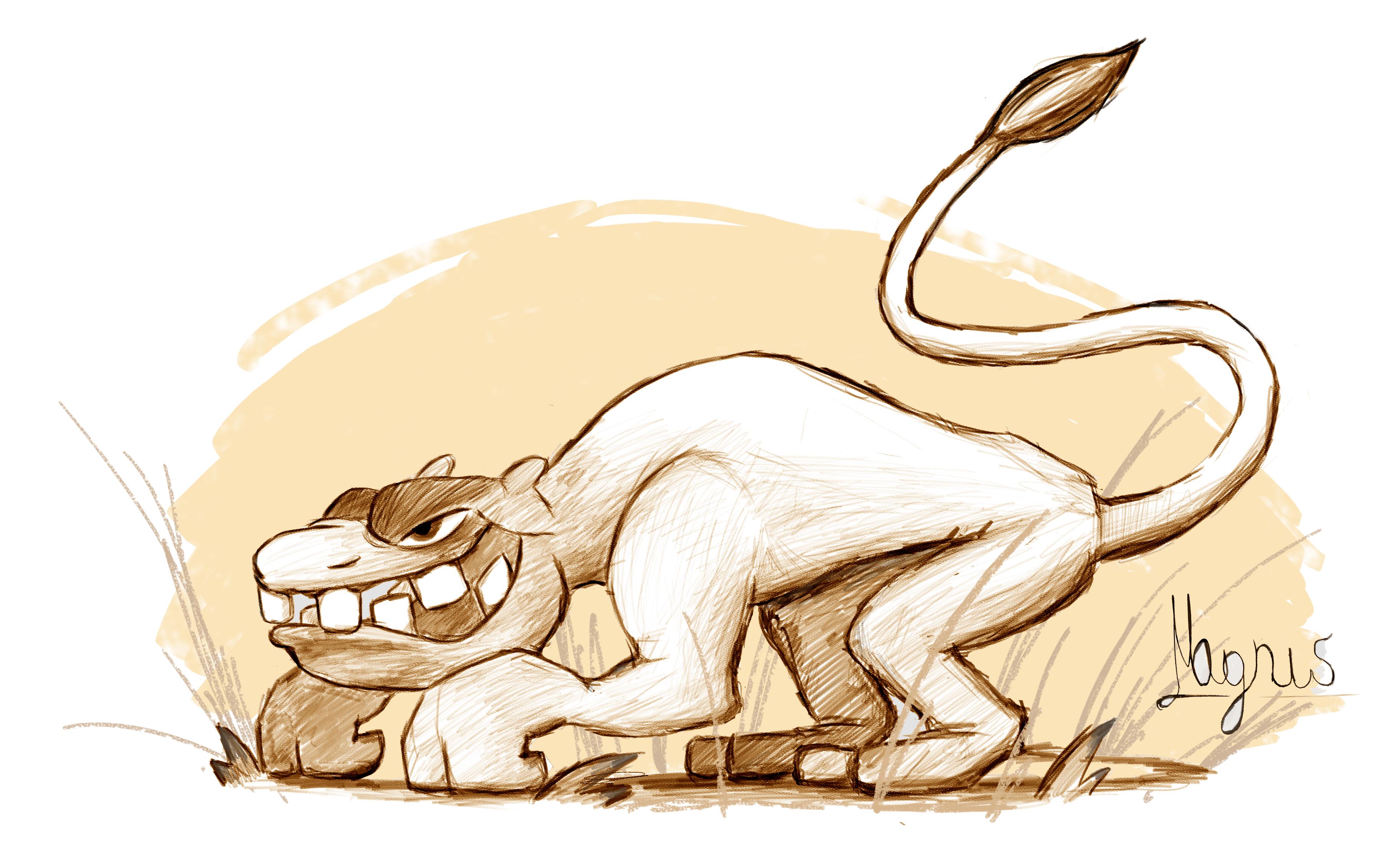 suspicious looking lion