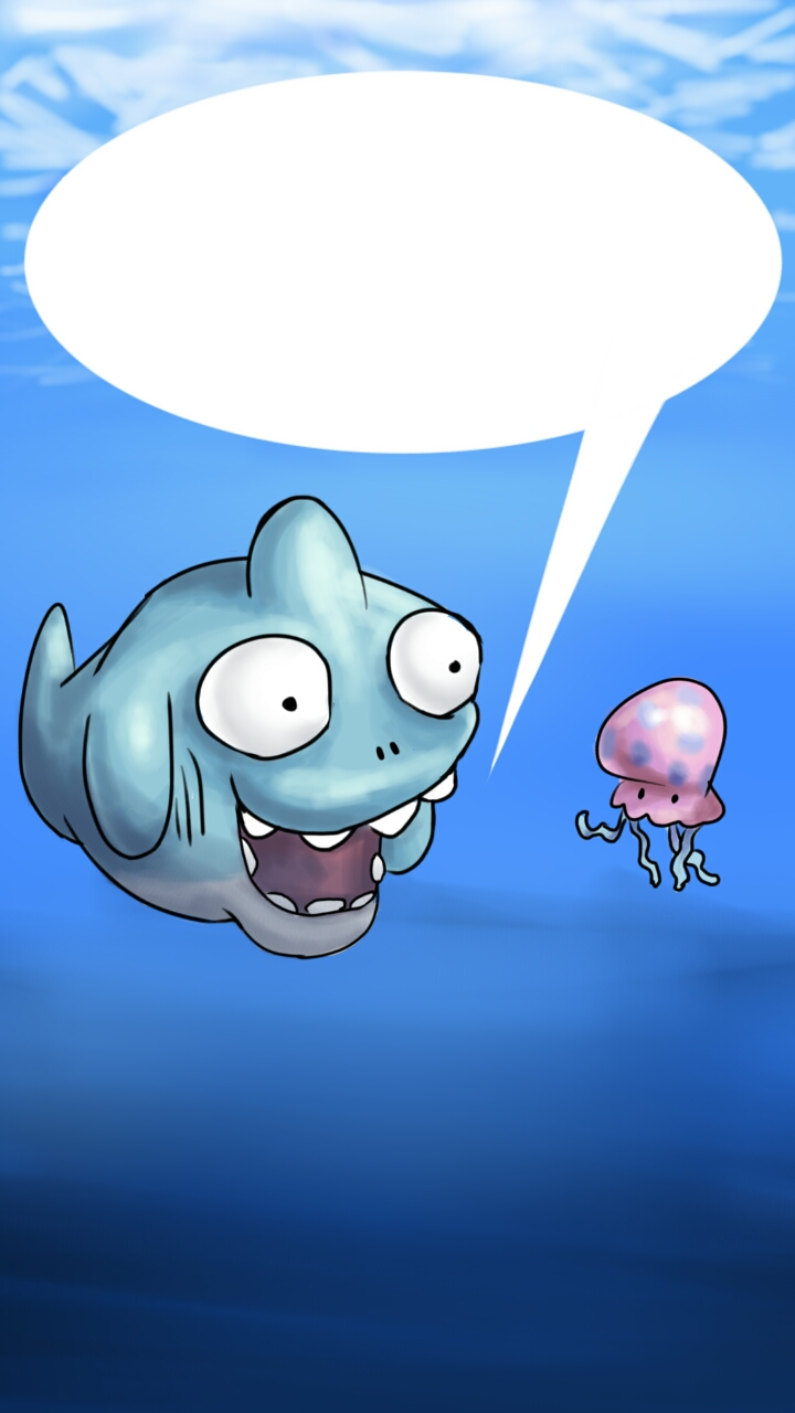 shark and jellyfish comic