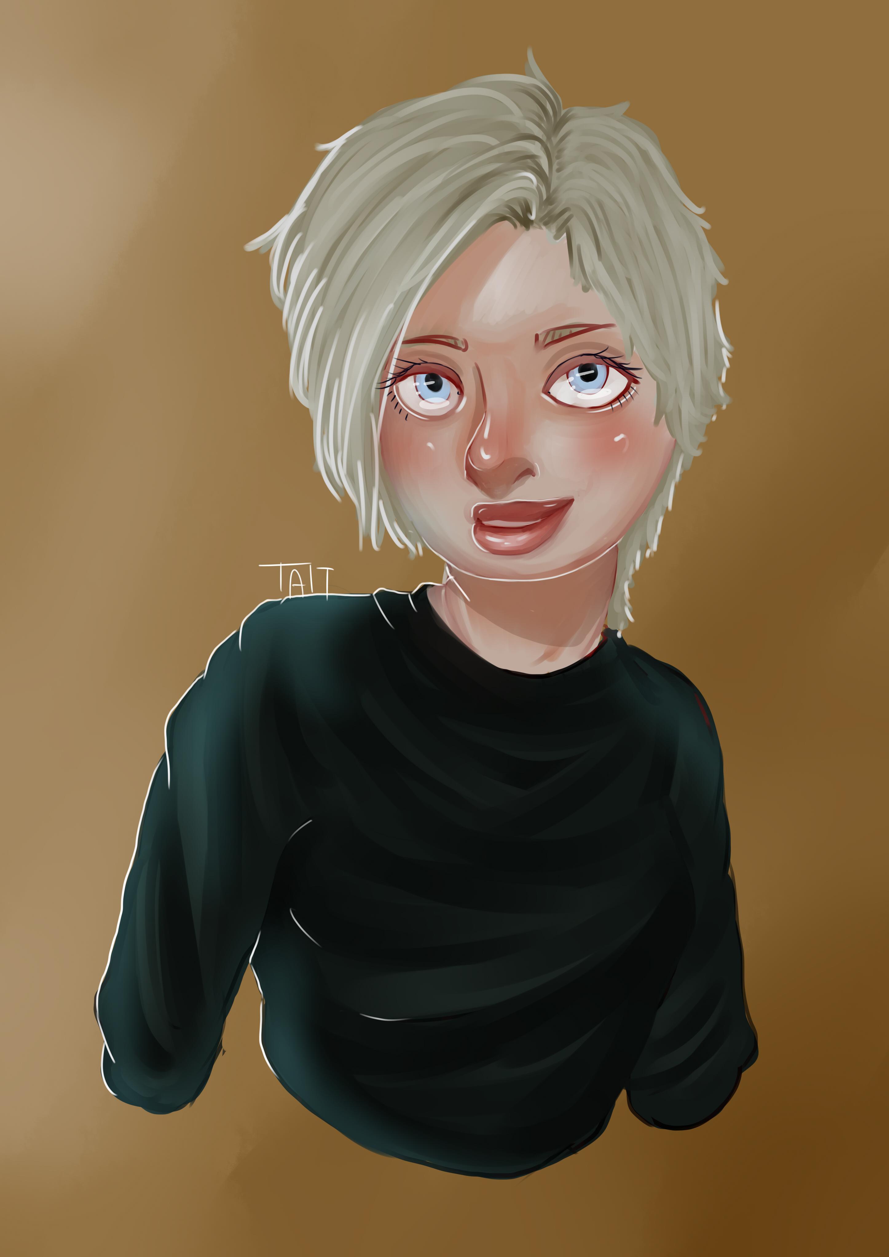 new self portrait (semi realistic)