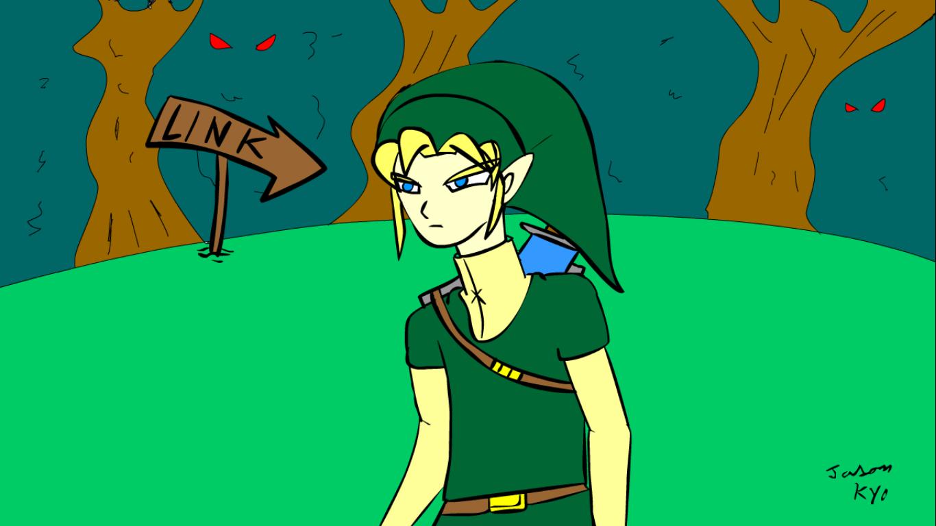 So I drew Link .. Love the zelda series
