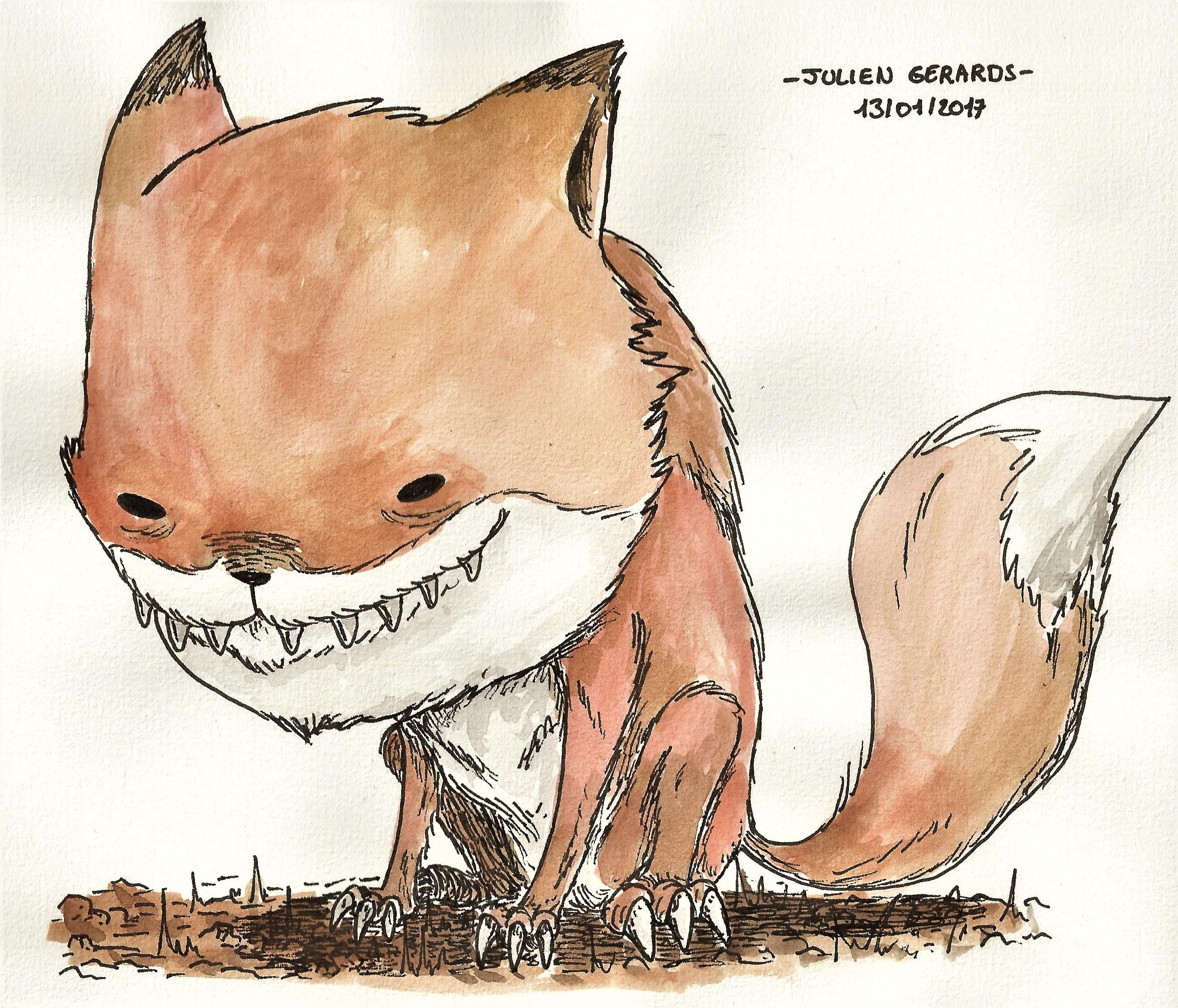 weird fox (with color)