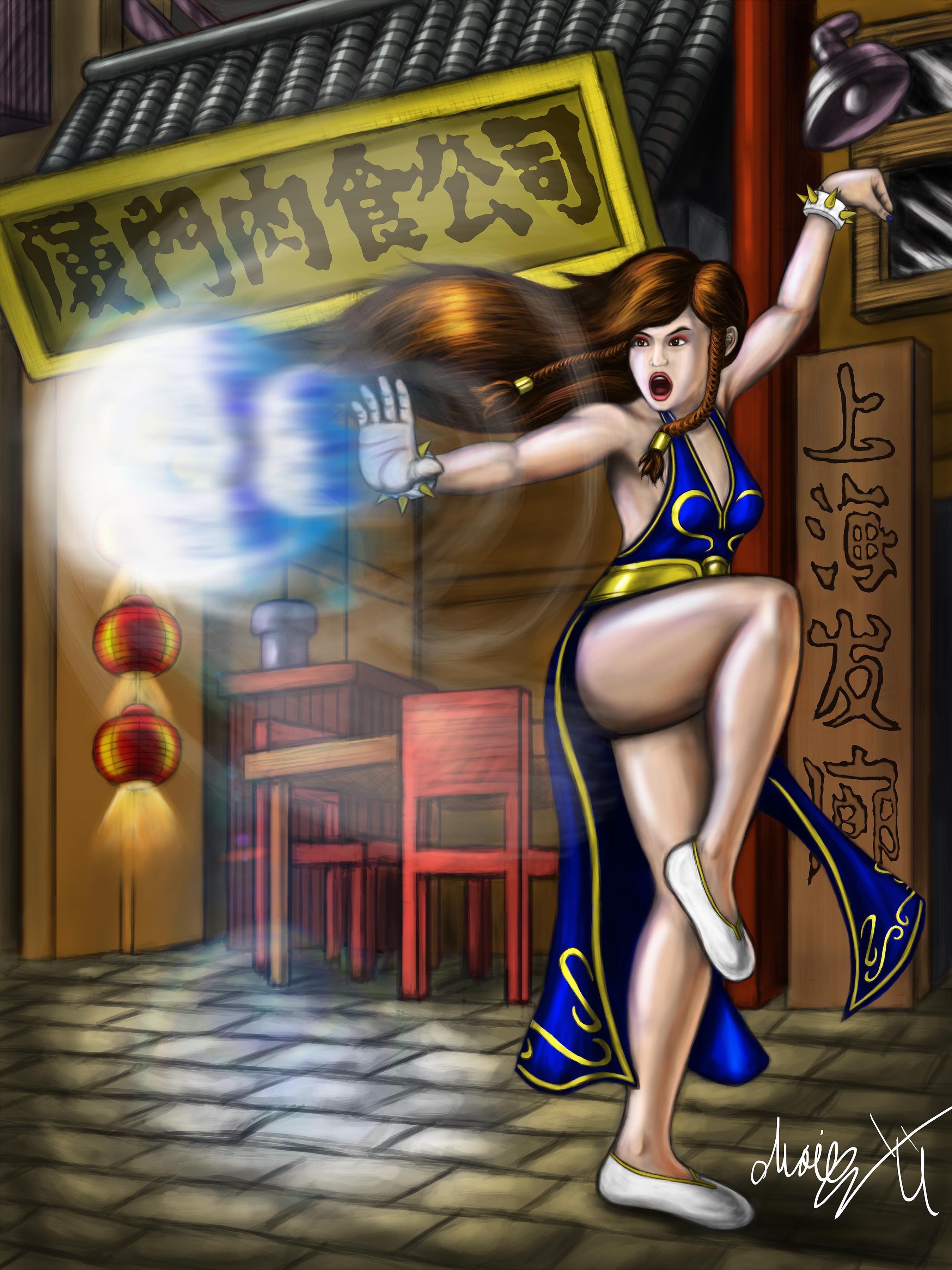 Colored Street Fighter V Chun Li Dress