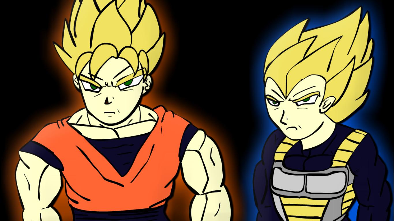 Hey look its Goku and Vegeta