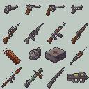 Modern Weaponry Icon Set