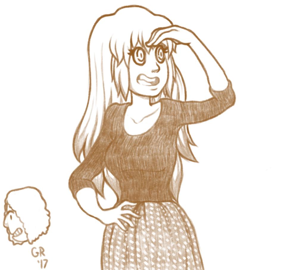 Girl Onlooking