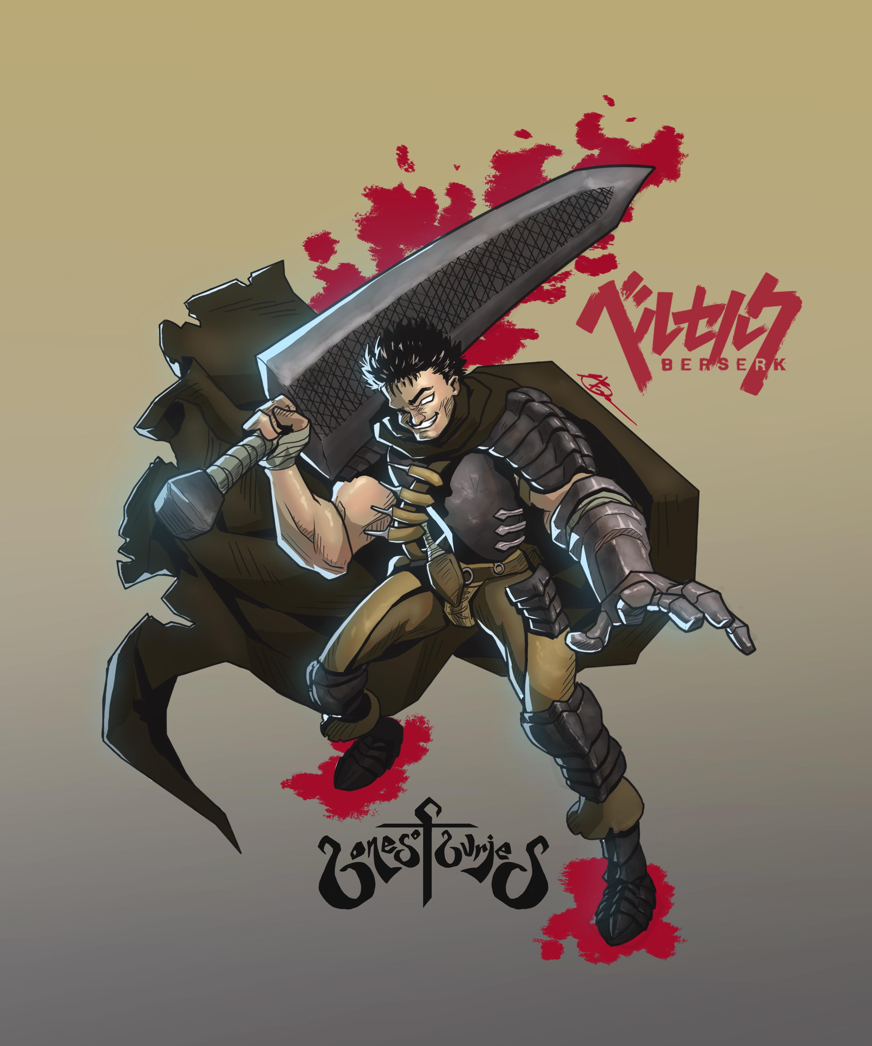 Guts and the Dragon Slayer Sword