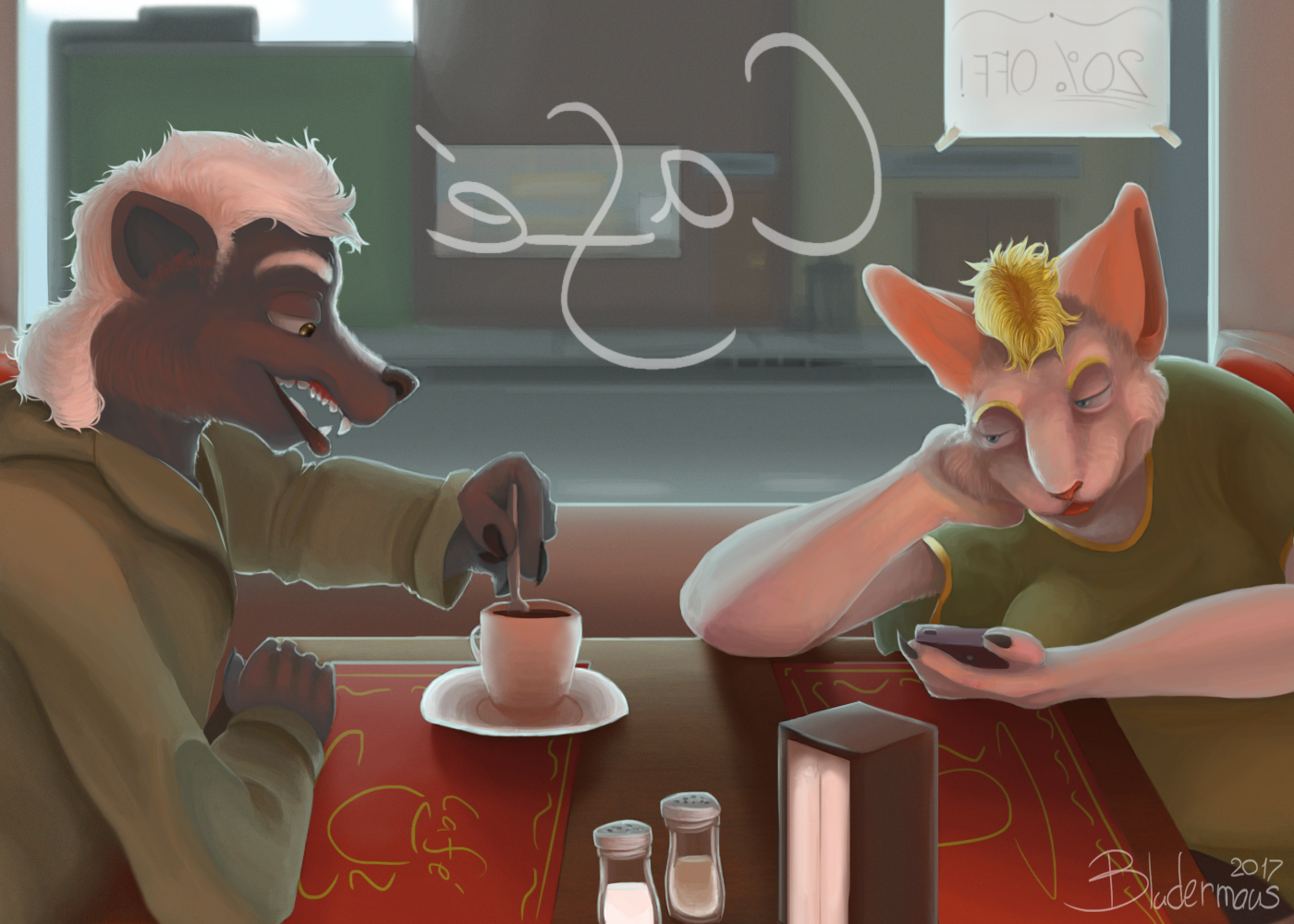 Typical Diner Scene