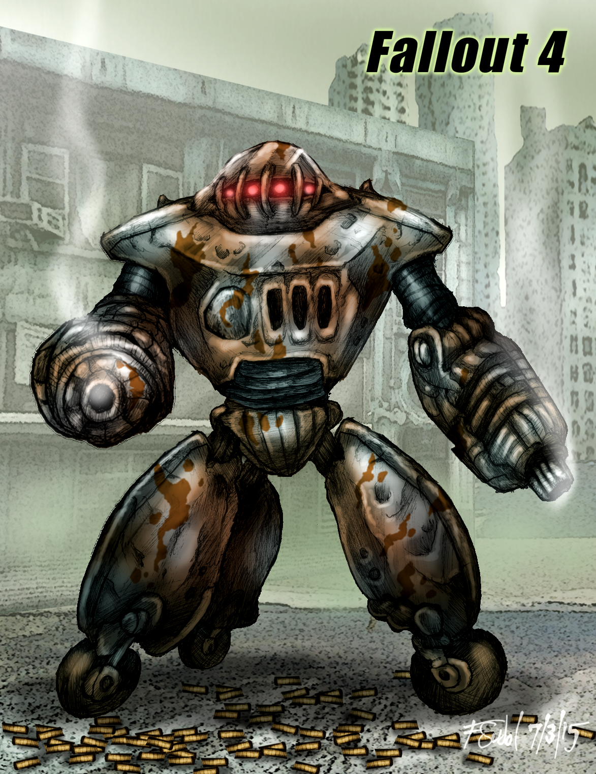 Sentry Bot Fallout Fan Art