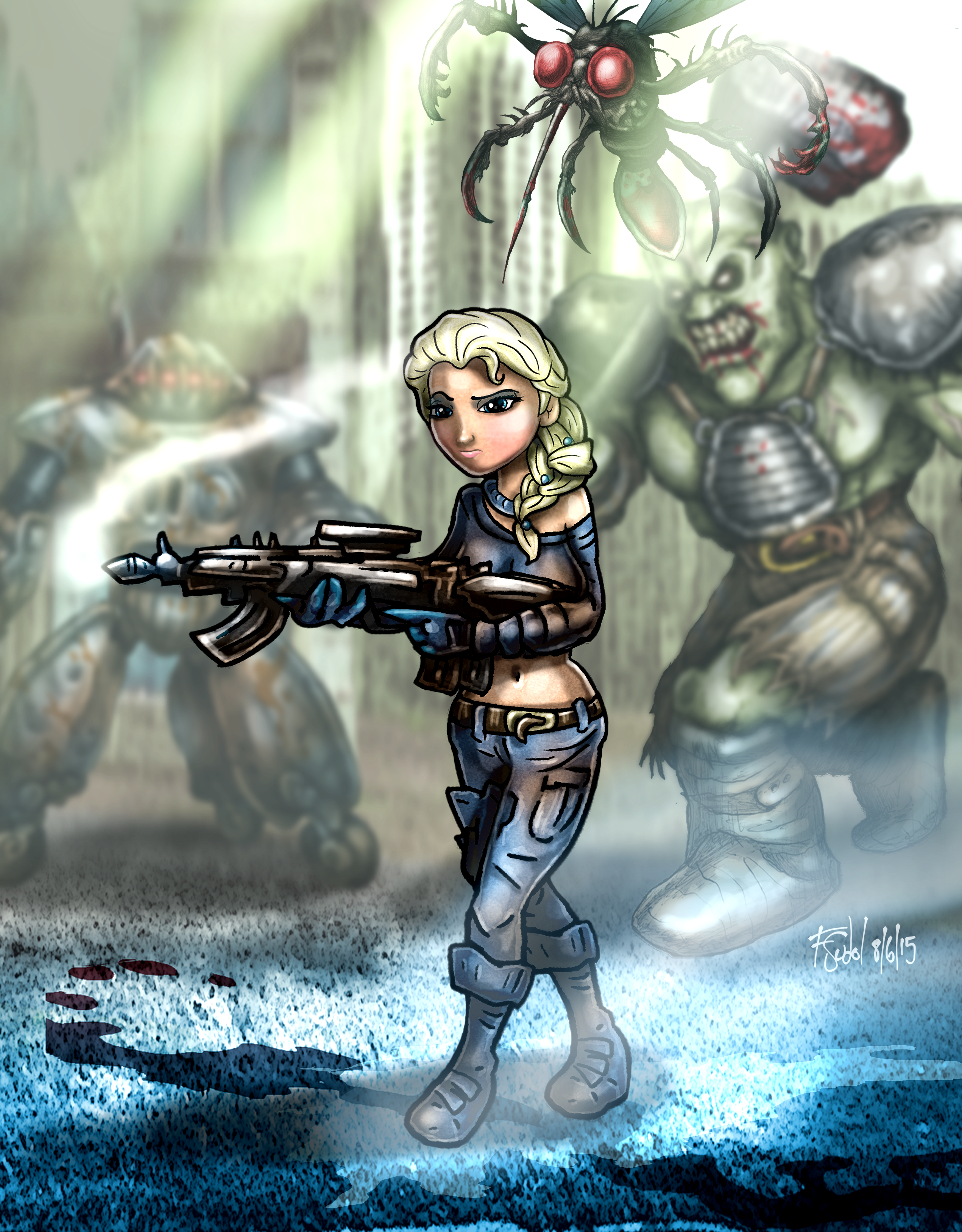 Wandering the Wasteland Fallout Fan Art