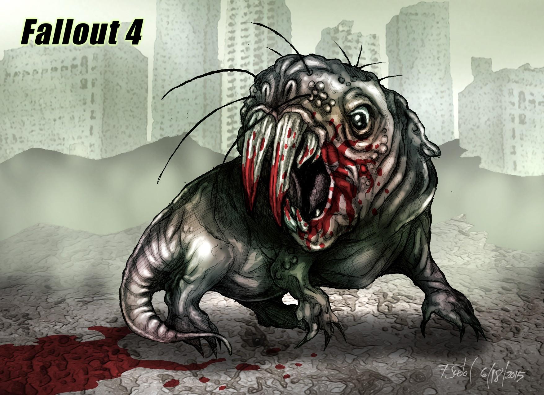 Mole Rat Fallout Fan Art